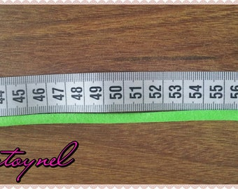 Bracelet ruler Ribbon and neon fabric