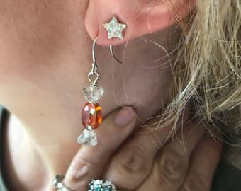Hard Candy Earrings - Orange Shine