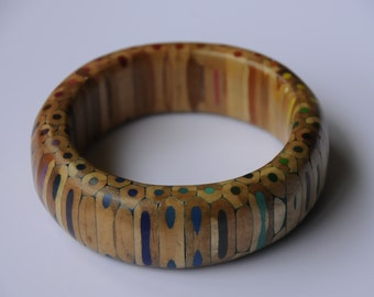 Colouring Pencil Rainbow Bangle