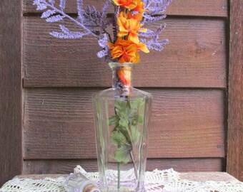 Antique Vase   Vintage Home Decor   Decorative Bottle   Vintage Glassware   Antique Bottle
