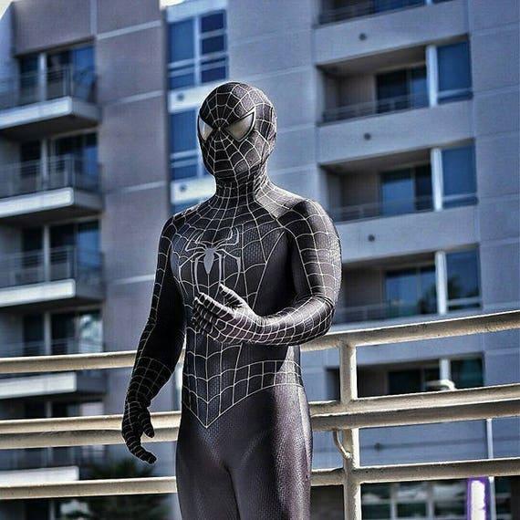 Spider-Man 3 Symbiote movie replica suit |Black Spiderman Costume Replica