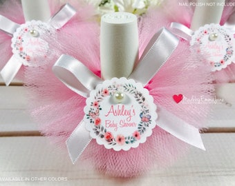 10 baby shower favorsnail polish tutusnail polish favorsbaby shower favors