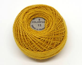 Valdani Pearl Cotton Thread Size 8 Solid: #13 Rusty Orange