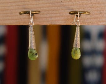 Silver and Stone Earrings