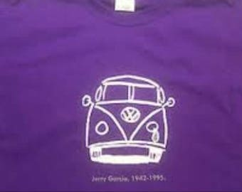 JERRY GARCIA VW Bus w/ Teardrop - Tribute to Grateful Dead guitarist - Psychedelic Rock - Acid Rock - San Francisco - 60's 70's Microbus
