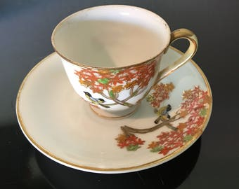 Teacup - Hand Painted in Occupied Japan