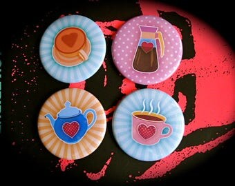 Set of 4 magnets 56 mms 'Chocolate'