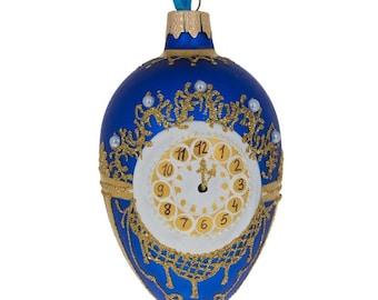"""4"""" 1900 Cockerel Royal Egg Glass Christmas Ornament"""