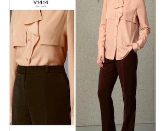 Vogue sewing pattern 1414 Anne Klein designer misses' sizes 8-16 top pants UNCUT OOP