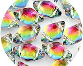 NEW GemDuo Beads, Backlit Utopia #GD8500030-28102, (40pcs), 8x5mm Diamond Shaped 2-Hole Bead Supply, DIY Jewelry Supply