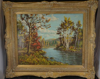 ORIGINAL Oil Painting on Board By OTTO PLANDING 1887-1964 Canadian Artist