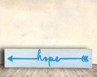 Tribal Arrows - Turquoise Sign - Hope - Tribal - Arrow - Hope Tribal Sign - Birthday Gift - Valentines Gift