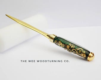 letter opener, steampunk letter opener, red letter days, gift vouchers, birthday gifts, christmas gifts, quirky gifts, unique gifts