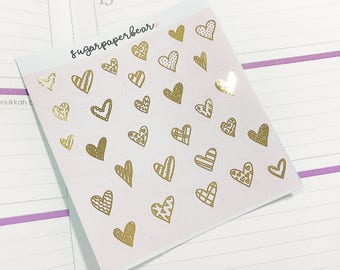 FOILED / All kind of hearts stickers