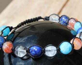 Bracelet with semi precious beads