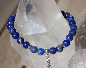 Navy sodalite anchor charm bracelet