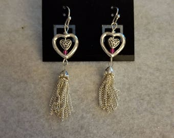 Dangle heart earrings