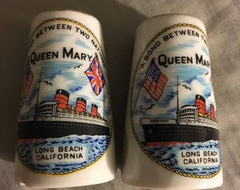 Vintage Ceramic Queen Mary Salt and pepper shakers