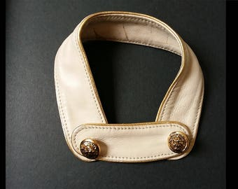 stand-up collar leather