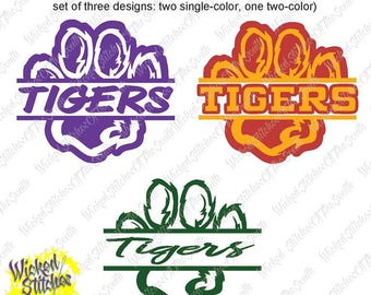 Tiger Paw Designs, Set of 3 for Surface or Heat Transfer Vinyl