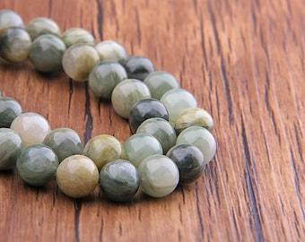 "Natural Green Agate beads Gemstone Beads Round Smooth Natural Stone Beads 6mm 8mm 10mm 12mm Beads 15.5"" Strand"