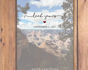 Grand Canyon Photo Save The Date Style 2 | Arizona Save The Date | Grand Canyon Wedding | Postcard Save The Date