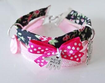 fuchsia pink multicolored Liberty multi strand bracelet