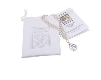 Family Medallion Silver Charm Bracelet, Adult & Child, Blended Family Wedding Gift, Blended Family Wedding Ceremony Ideas, Adoption Gift,