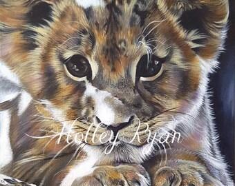 Lion Cub A4 Print