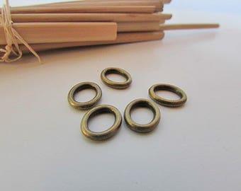 10 connector oval 10 x 8 mm metal bronze - 161.18