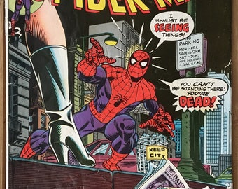 Vintage Amazing Spider-Man - Marvel Comic Book - Issue 144 - Gwen Stacy - Clone Saga - Bronze Age (1975)