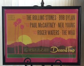 Matted Framed Desert Trip Poster Week 2
