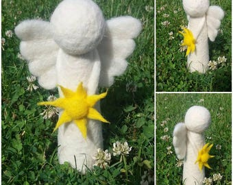 This is handmade - needle felted - angels created by Neradom handicrafts