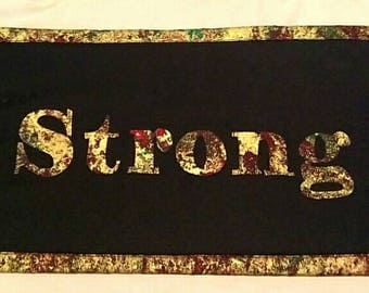 """Inspirational """"Strong"""" Wall Hanging"""