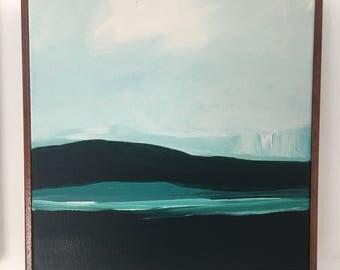 Modern Abstract Landscape Glacier Bay Original Painting