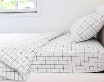 grid duvet cover twin bedding set boy duvet cover black white boy twin