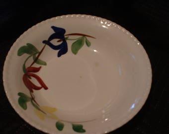 Vintage Blue Ridge Pottery Bowl Carnival Pattern.