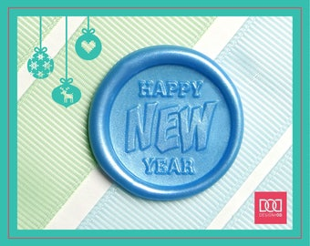 Happy New Year - Design OD Wax Seal Stamp (DODWS0427)