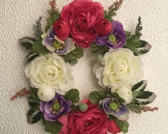 Floral letter wall decor