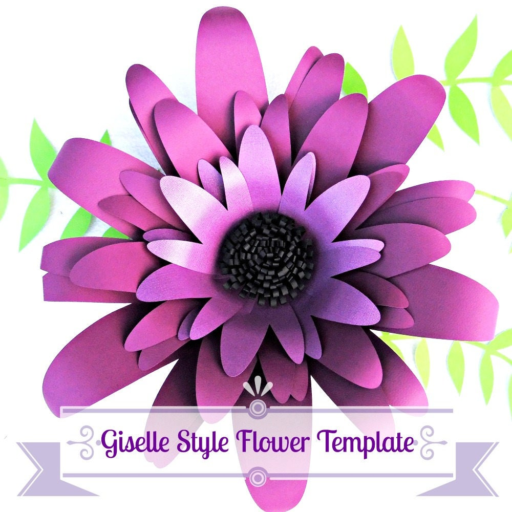 Giant Diy Paper Flower Templates With Instructions Paper Flower Kit
