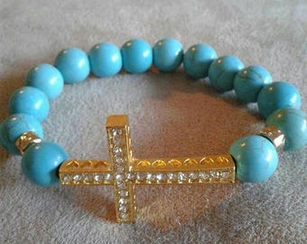 Women's Turquoise Cross bracelet