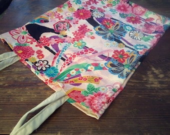 Bag tote bag with silk from Japan