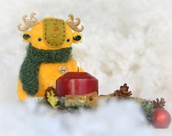 The spirit of the Christmas Candle plushtoy handmade toys monster
