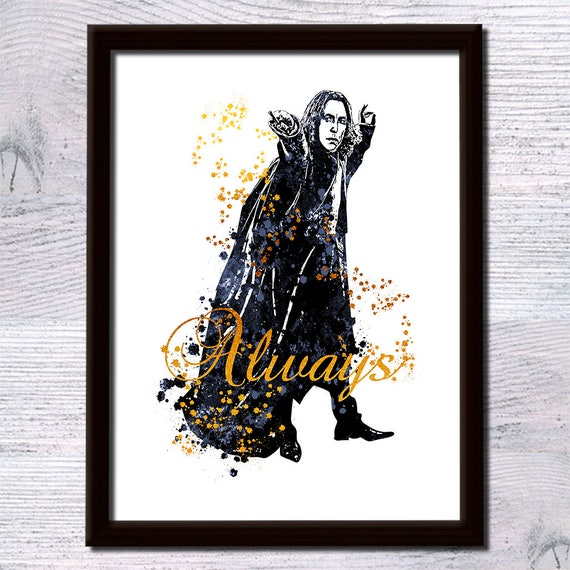 Harry Potter poster harry Potter real foil print Severus Snape art poster