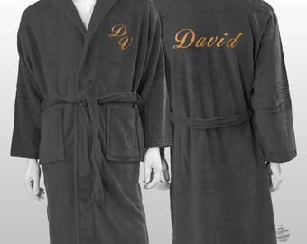 Personalized Plain Polar Robe Ref. Sweet - Grey