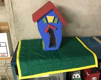 Playhouse wooden piggy bank