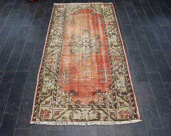 Ethnic Rug, Bohemian Rug, Oushak Rug, Old Rug, Turkish Vintage Rug, Faded Rug, Decorative Rug, Area Rug, Free Shipping 3.1 x 6.1 No 1098