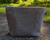 Project Bag | Knitting Bag | Knitting Project Bag | Zippered Project Bag | Wedge Bag | Wool Small Batch No. 2 - Large