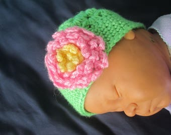 Flower Child Crochet Baby Hat