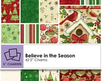 SALE! Believe in the Season -  Charm Pack - Clothworks by Sue Zipkin